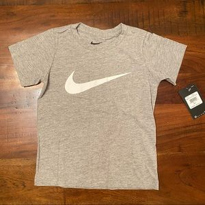Nike Boys gray swoosh tee shirt